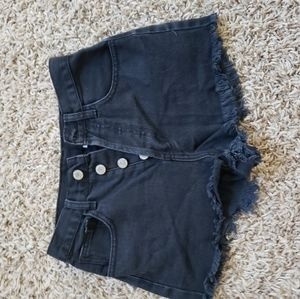 Black Brandy Melville Jean shorts